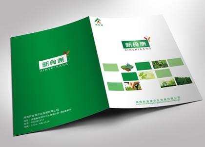 盾朗案例:新食康产品画册设计